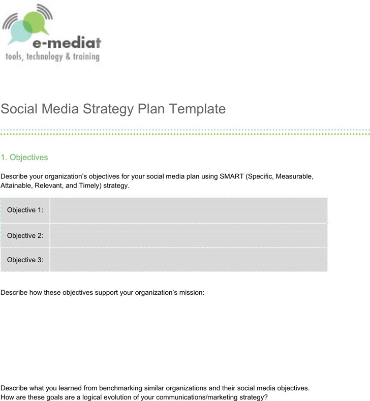 Social Media Strategy Template Download Free Premium Templates - Social media strategy template pdf