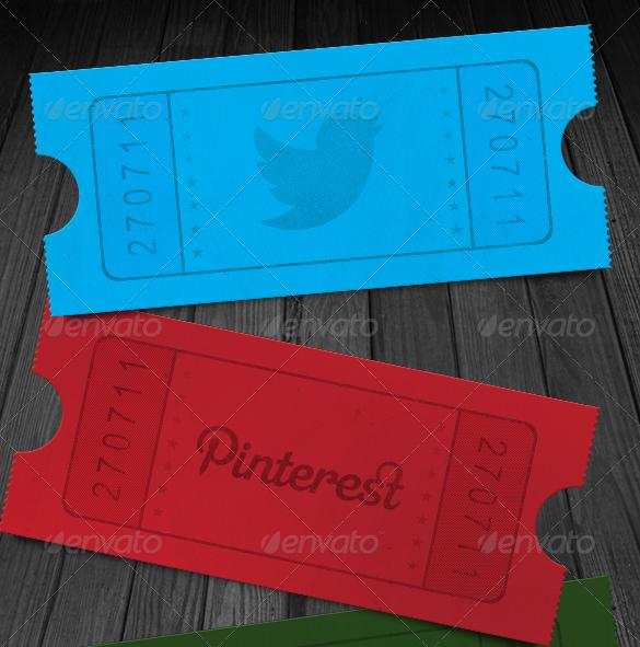 Social Media Ticket Stub Template