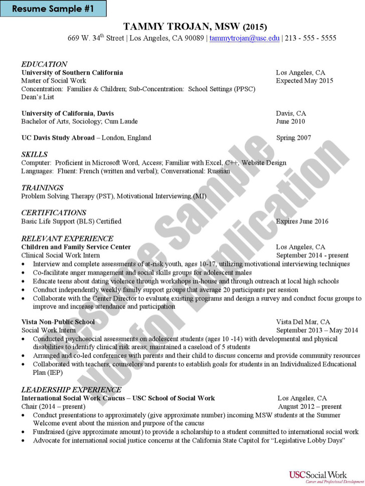 Social Work Resume Template2