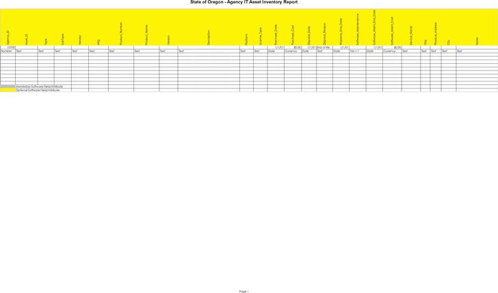 Software Inventory Spreadsheet