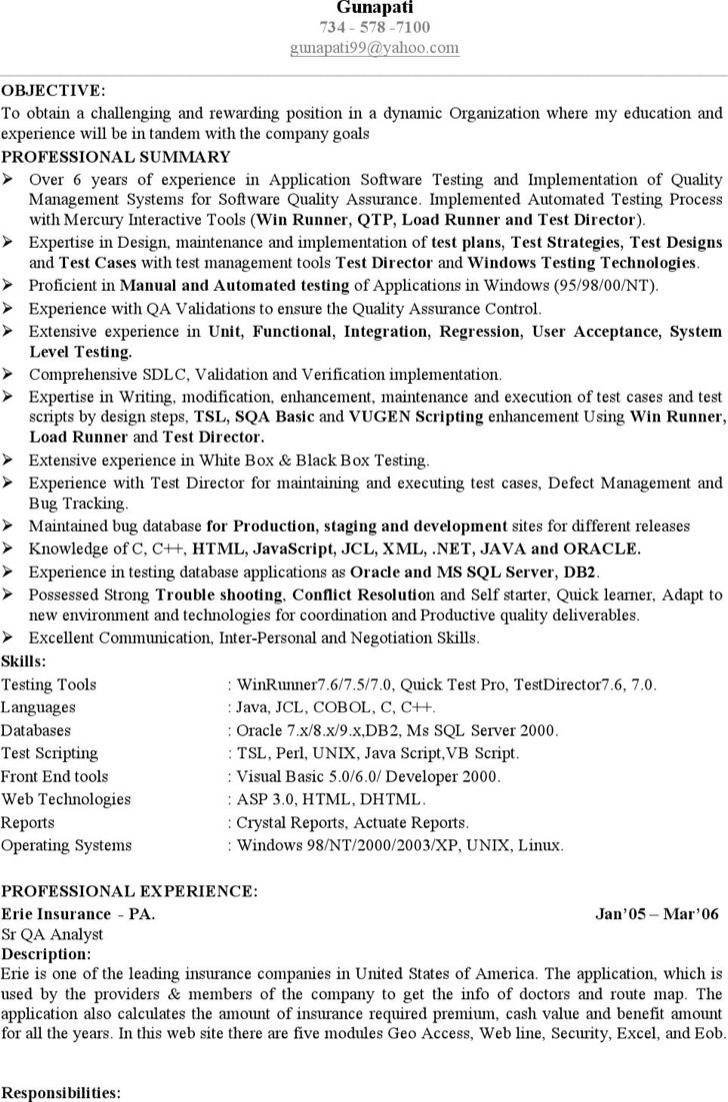 Software engineer resume templates download free for Sample resume for software test engineer with experience
