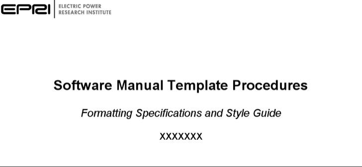 Software User Manual Template
