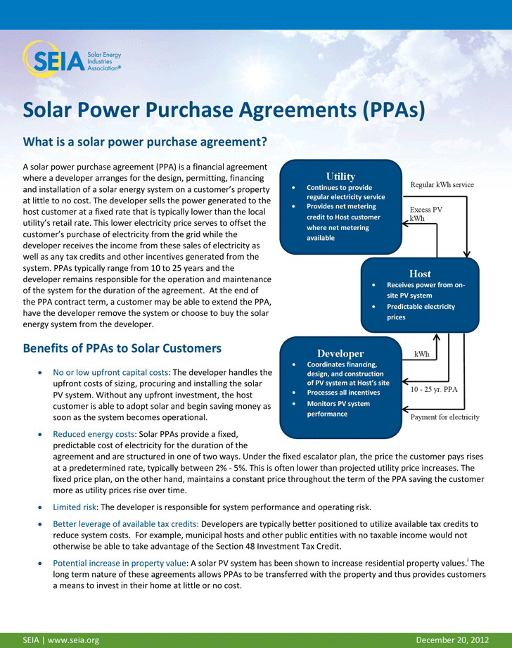 Power Purchase Agreement  Download Free  Premium Templates Forms