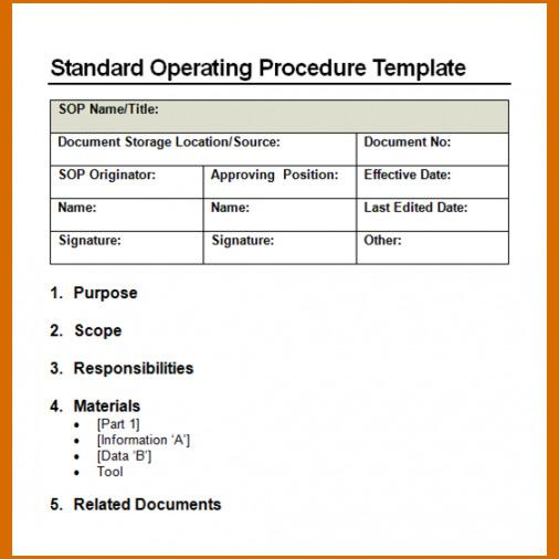 Standard Operating Procedure Template  Download Free  Premium