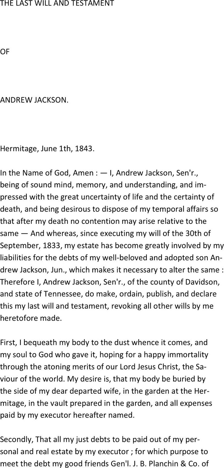 South Carolina Last Will And Testament Sample