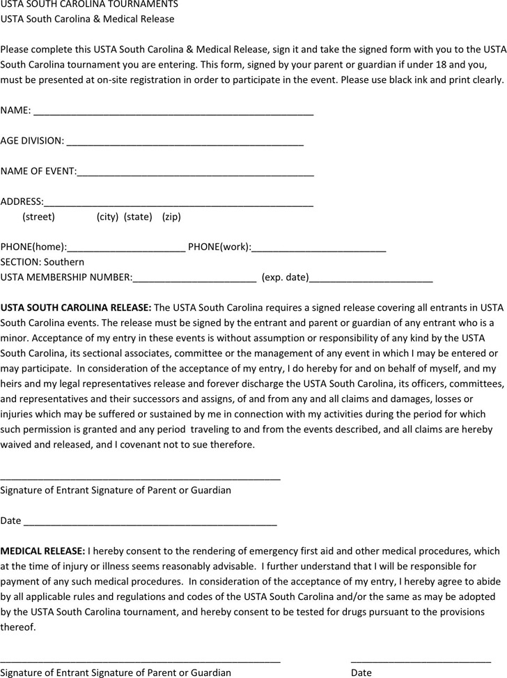 South Carolina Medical Release Form 1