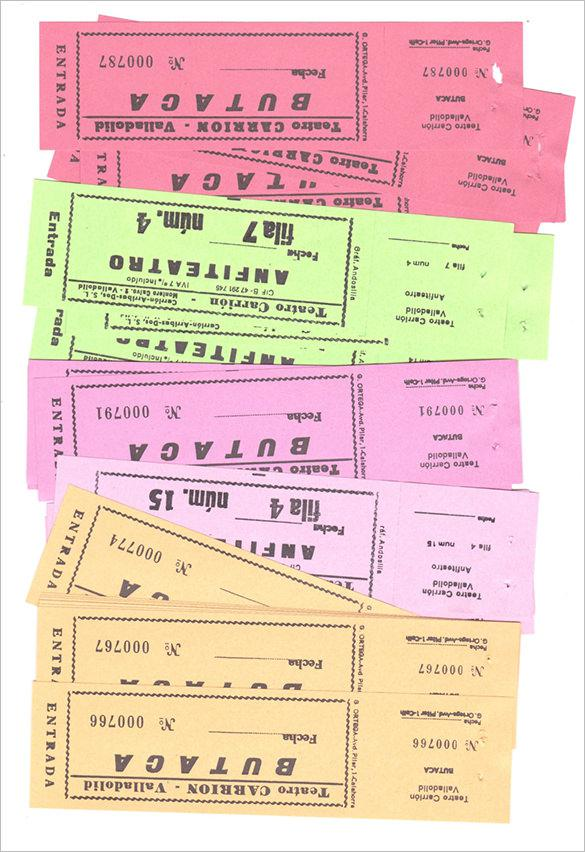 Spanish Vintage Theater Tickets Printable