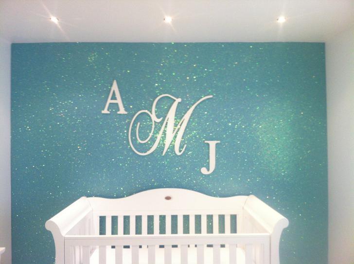 Sparkling Glitter Font Idea