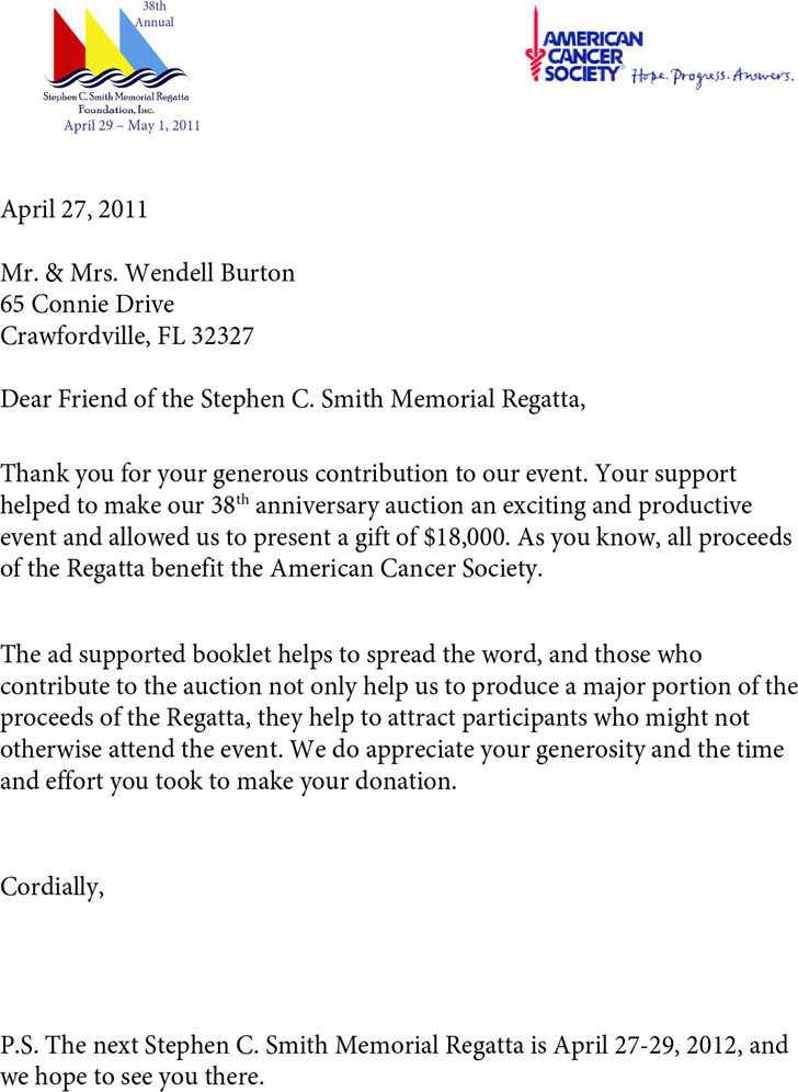 Sponsor Thank You Letter Corporate Sponsorship Request Letter
