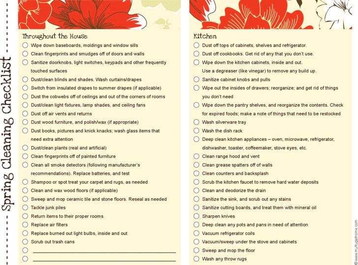 Spring Cleaning Checklist 3