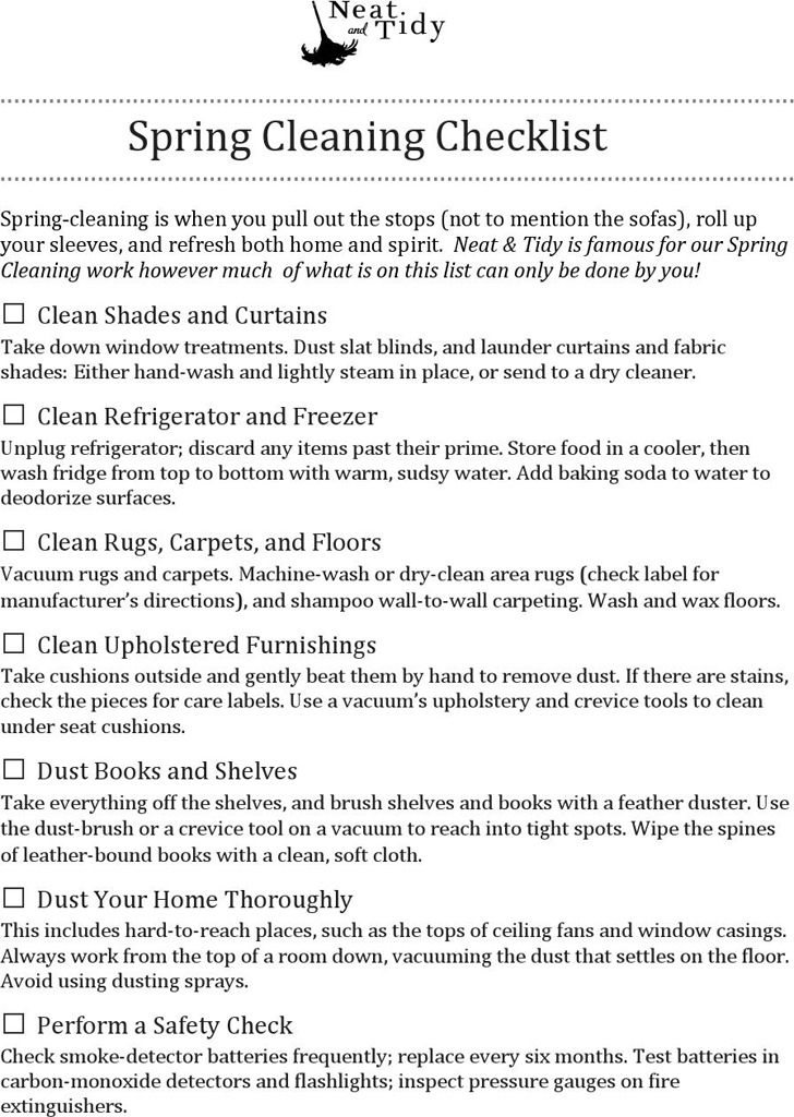 Spring Cleaning Checklist 4