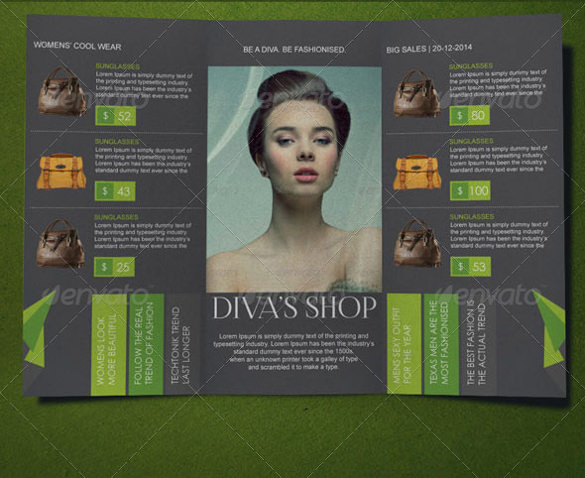 Spring Fashion Brochure Template