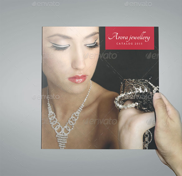 Square Bi- Fold Jewelry Brochure