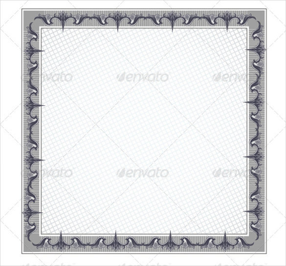Square Certificate Blank Template