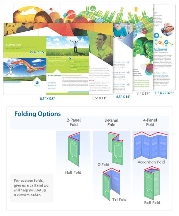 Standard Brochure Maker Printing Size