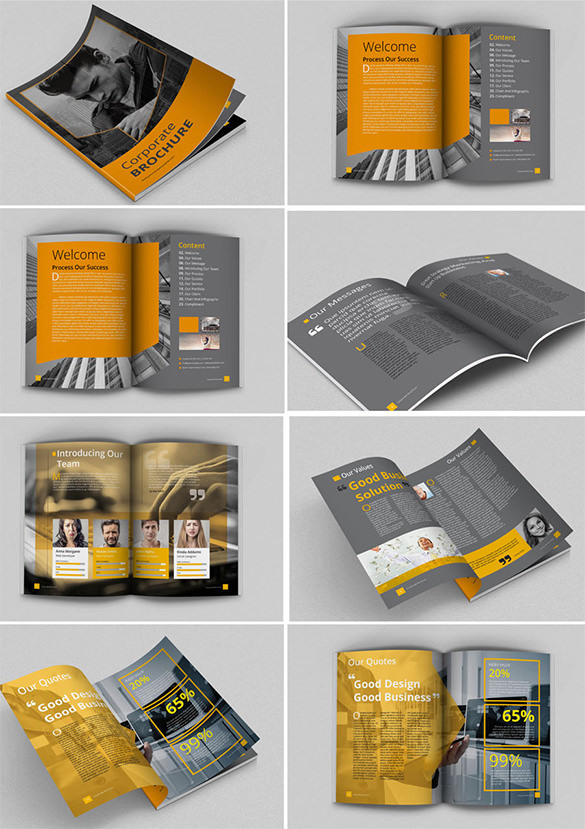 Awsome brochure sizes and psd design examples download for Brochure template size