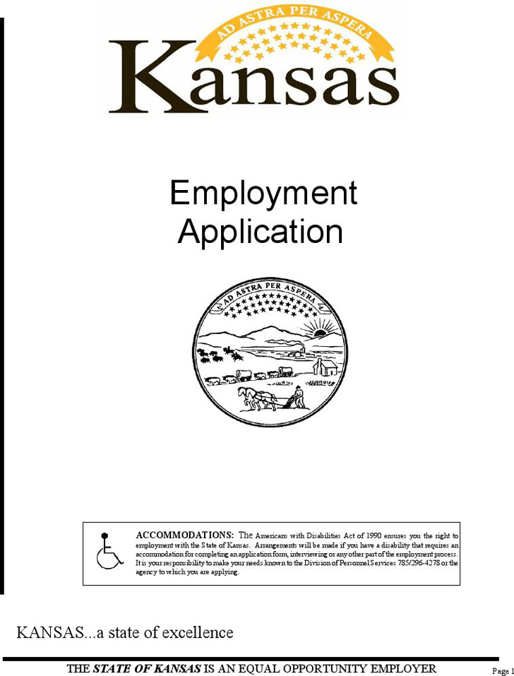 State of Kansas Employment Application