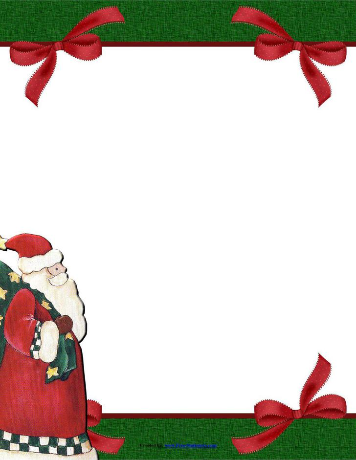 Stationery Template Papers fro Christmas PDF Download