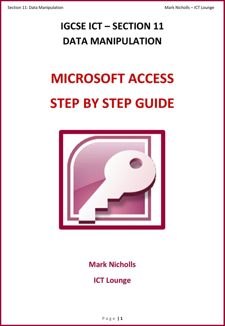 Step By Step Ms Access Tutorial Pdf Format