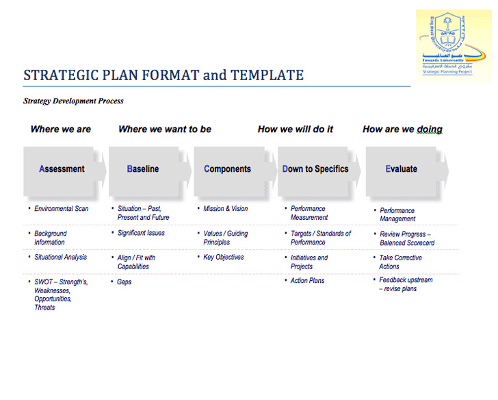 Strategic Plan Format & Template