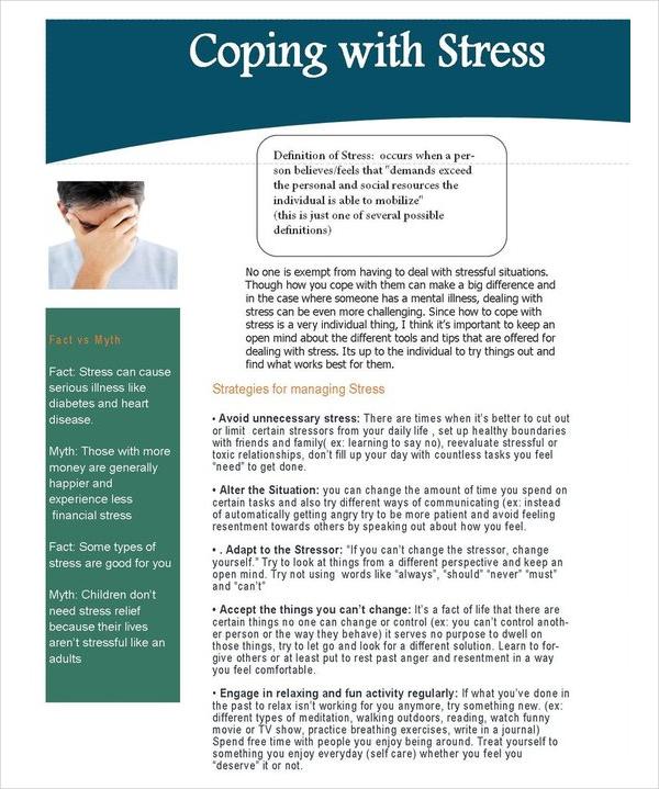 Stress Newsletter Template