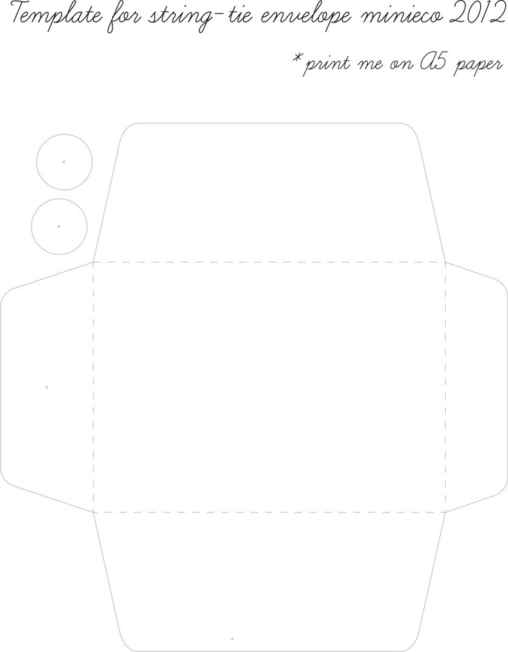 String-Tie Envelope Template