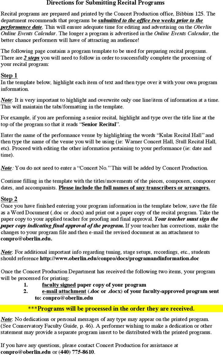 Student Program Template