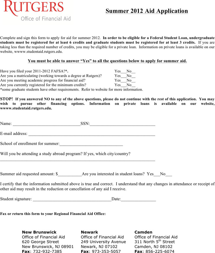 Students Loan Application Form | Download Free & Premium Templates