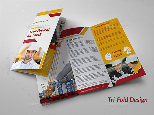 Stylish Brochure Template for Construction Company
