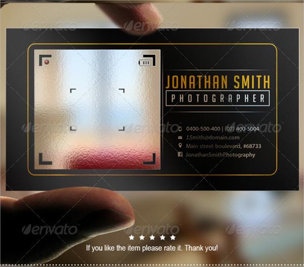 Stylish Transparent Business Card