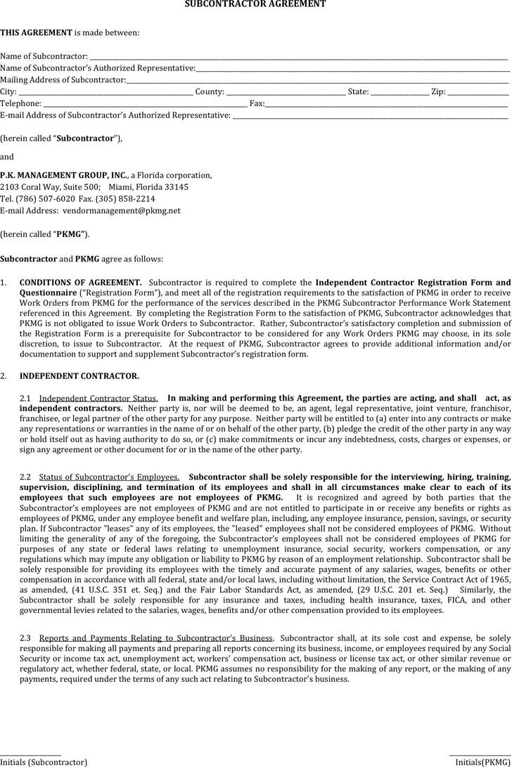 Subcontractor Agreement 3