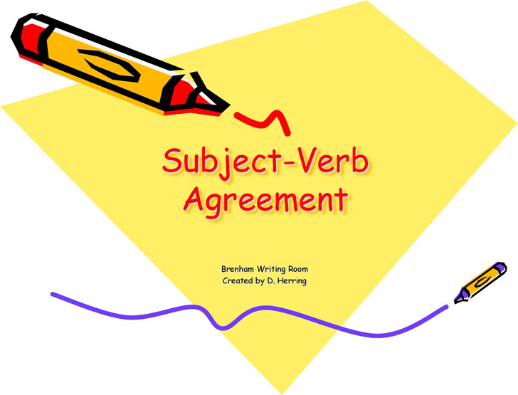 Subject Verb Agreement Powerpoint 5