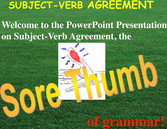 Subject-Verb Agreement ppt 1