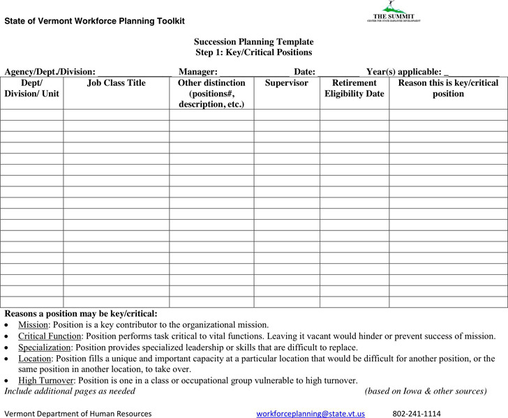 Succession Planning Template  Download Free  Premium Templates