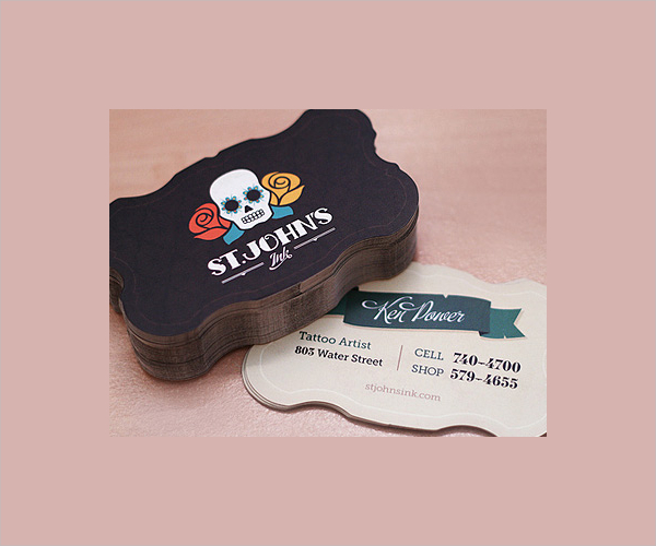 Sugar Skull Artist Business Card