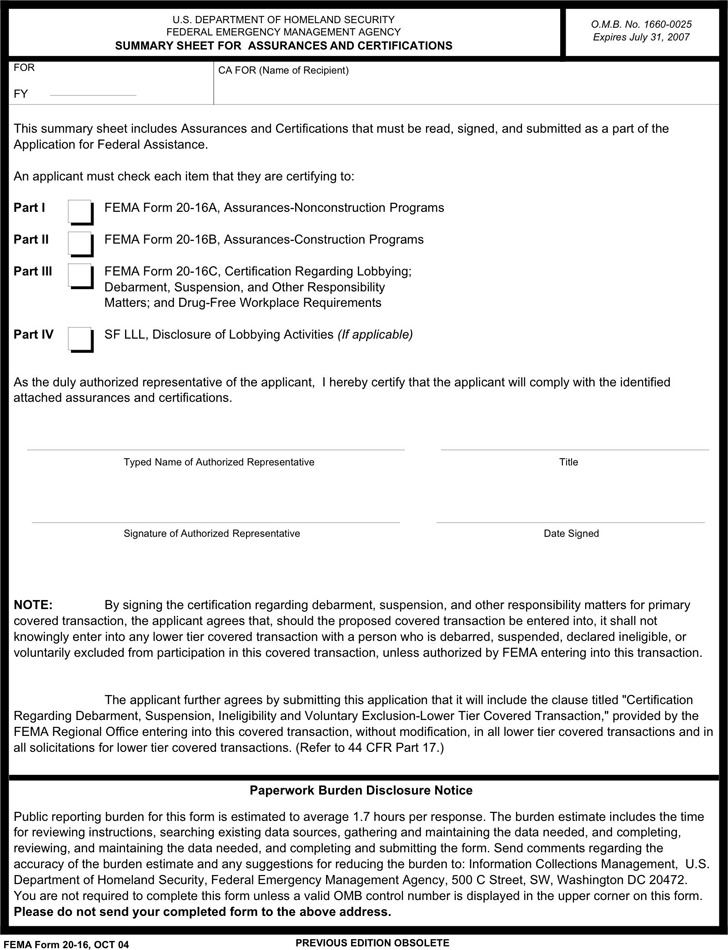 Fema Application Form | Download Free & Premium Templates, Forms