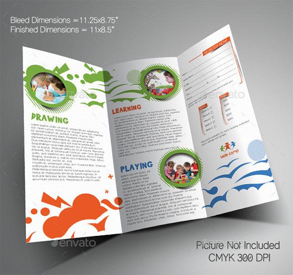 Kindergarten brochure templates download free premium for Summer camp brochure template free download