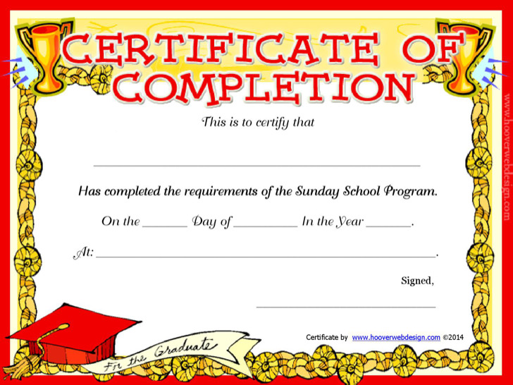 Sunday School Certificate Templates | Download Free & Premium