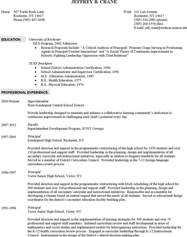 6 superintendent resume templates free download