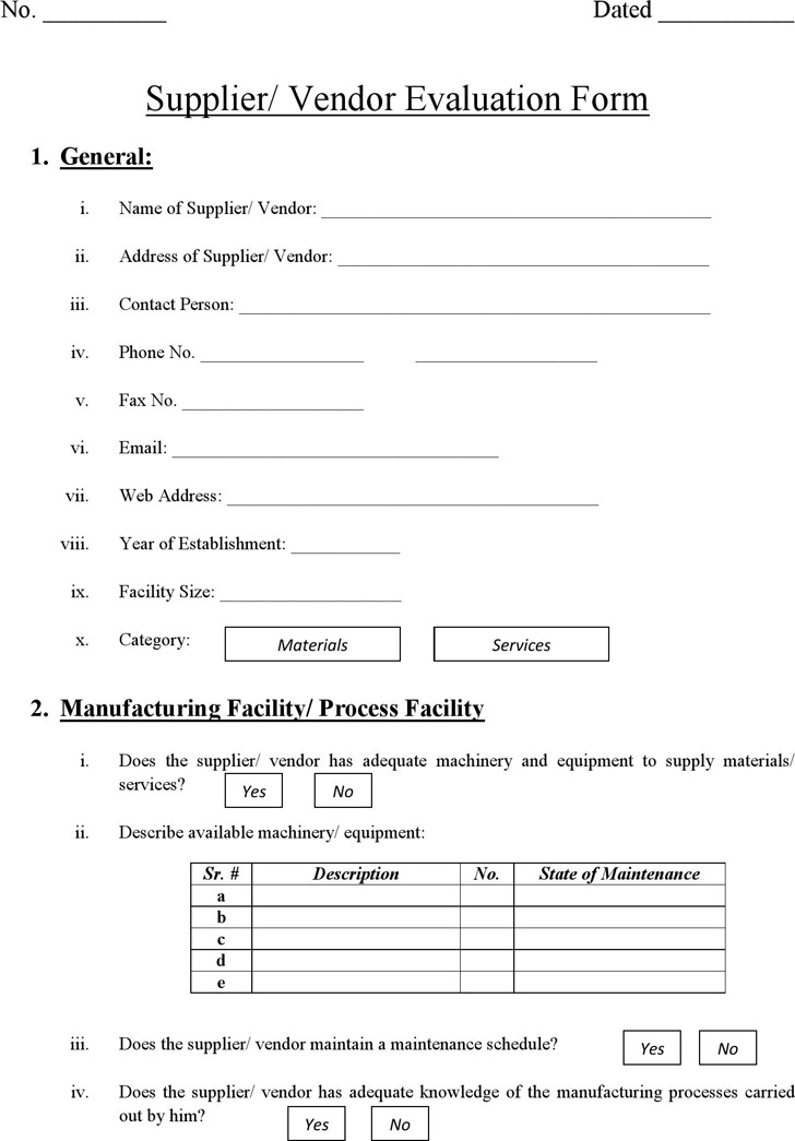 Performance Evaluation Form | Download Free & Premium Templates