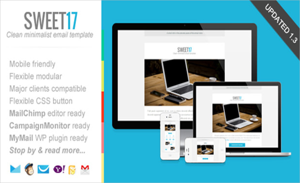 Sweet17 Clean Newsletter Template