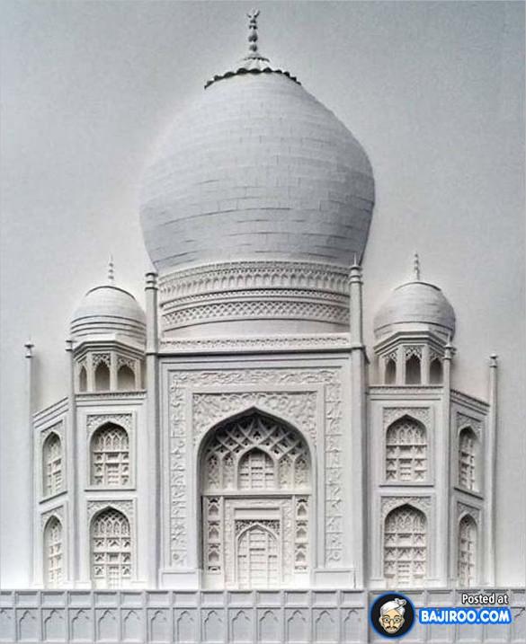 Taj Mahal Paper Art Design