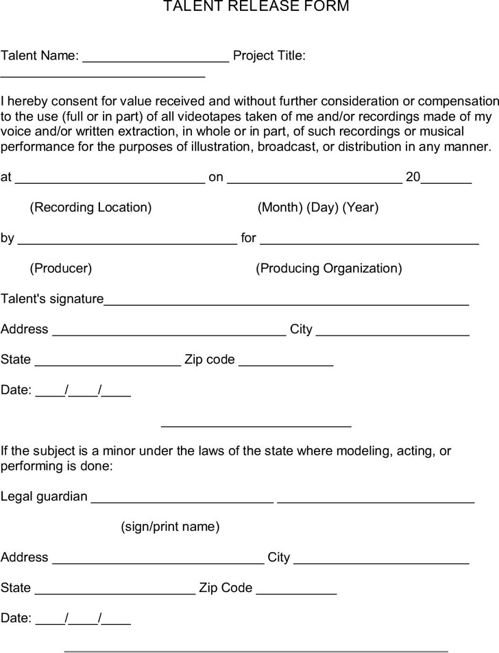 image release form