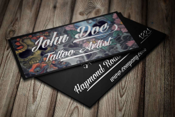 Tattoo Artists Business Card