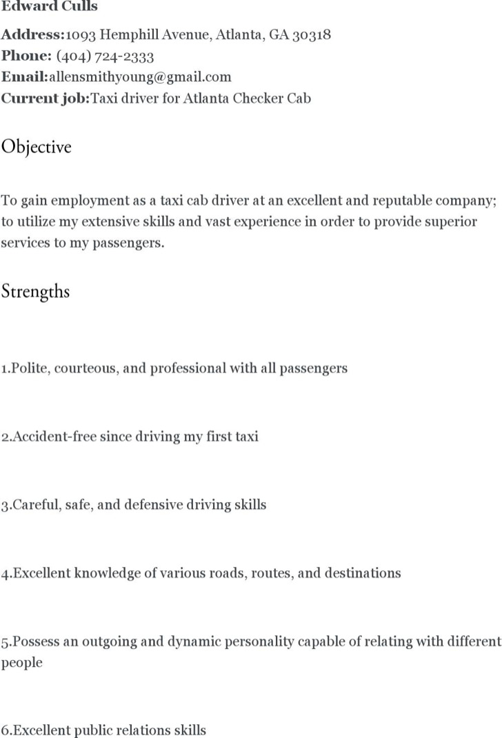 Driver Resume Templates | Download Free & Premium Templates, Forms ...