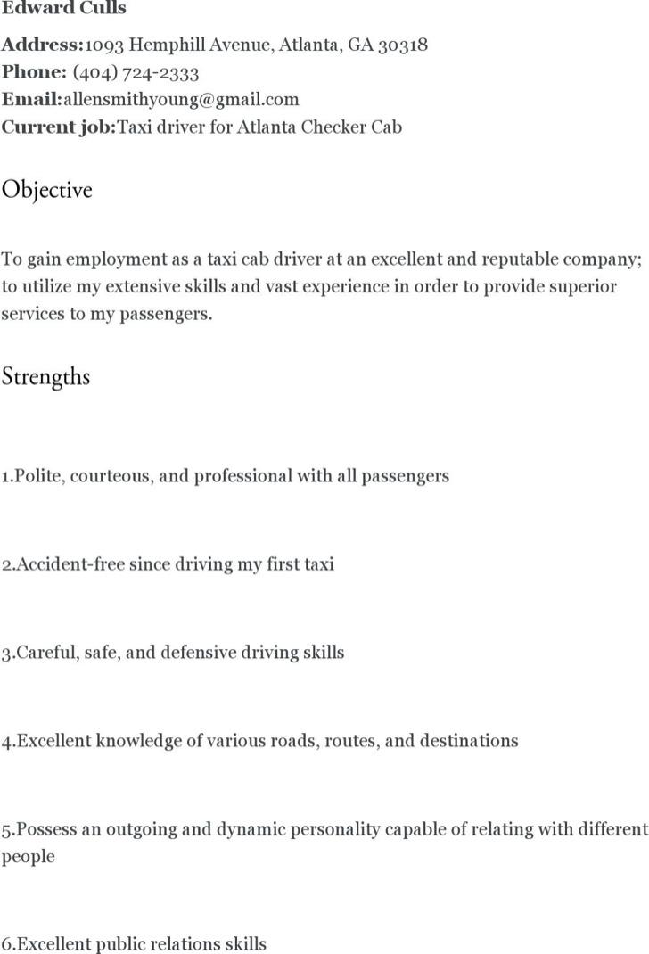 driver resume templates free premium