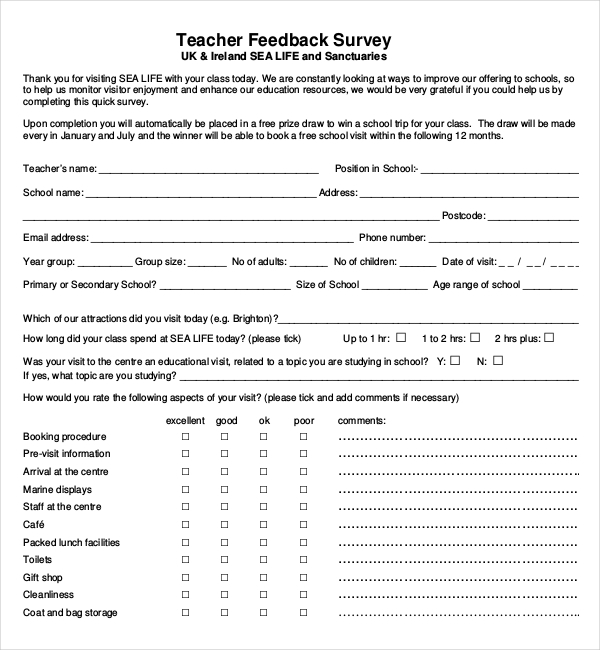 Demographic Survey Template Questionnaire Template