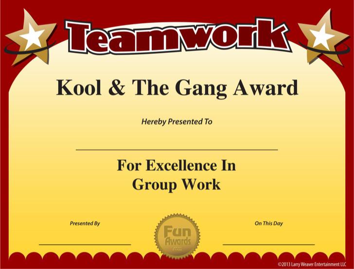 Teamwork Certificate Template