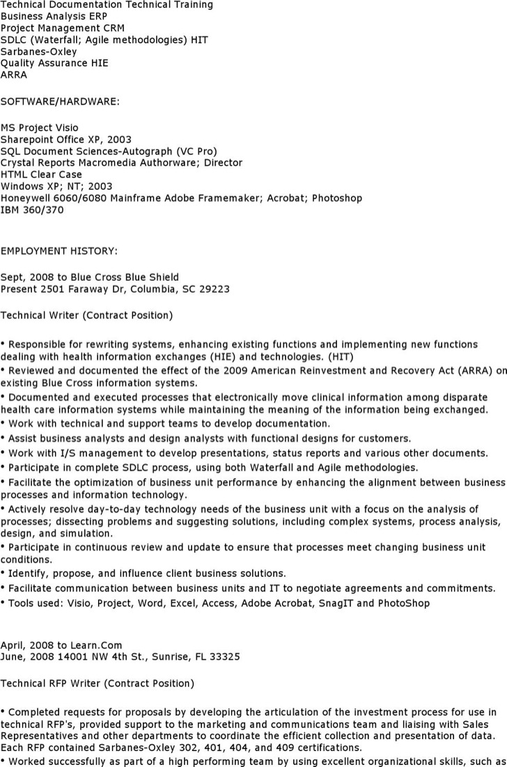 technical writer business analyst resume technical analyst resume