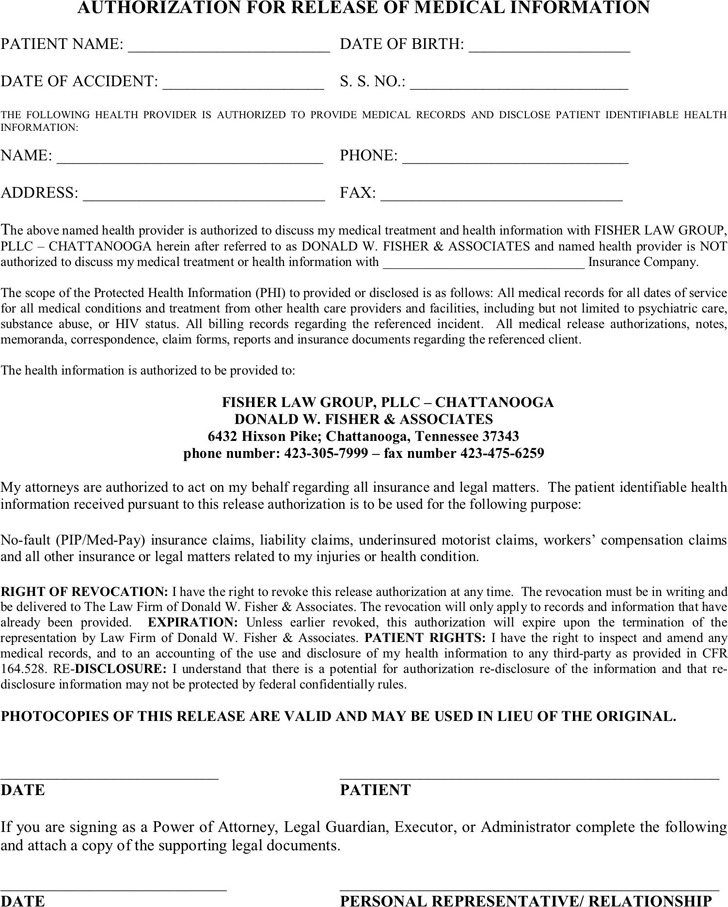 Tennessee Medical Release Form 3